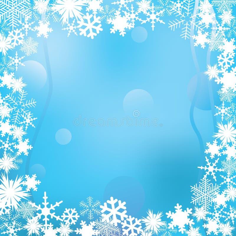 зима рамки иллюстрация штока