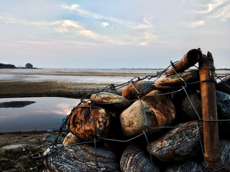 зима речной воды ландшафта льда свободного полета стоковое фото