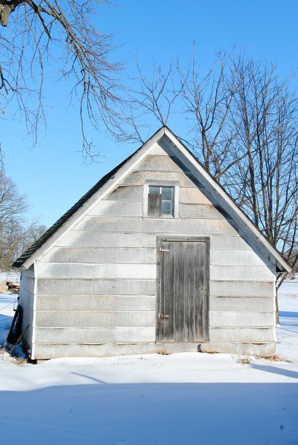 зима сарая фермы стоковое изображение rf