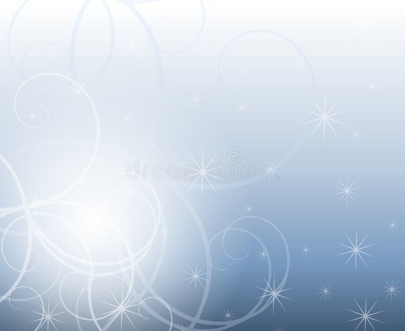 зима свирлей sparkles иллюстрация вектора