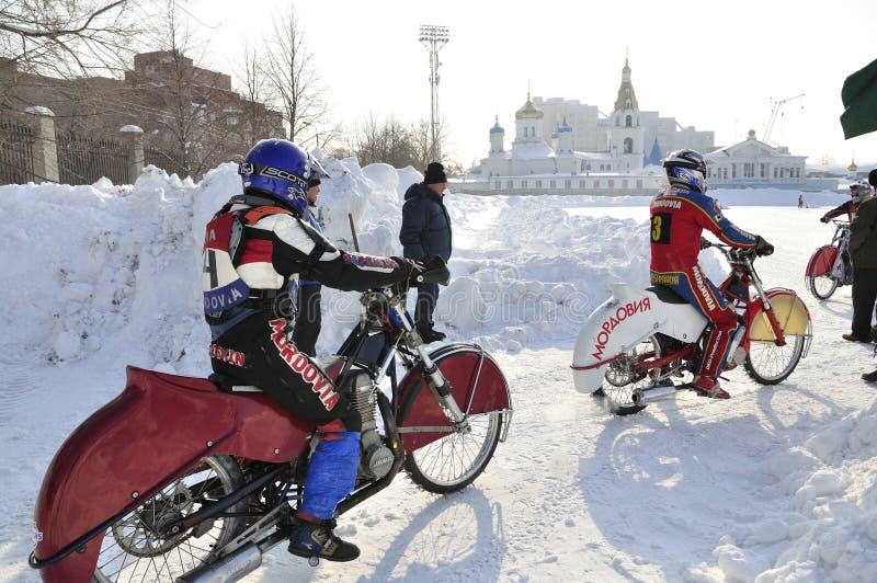 зима скоростной дороги samara России чемпионата стоковые изображения rf