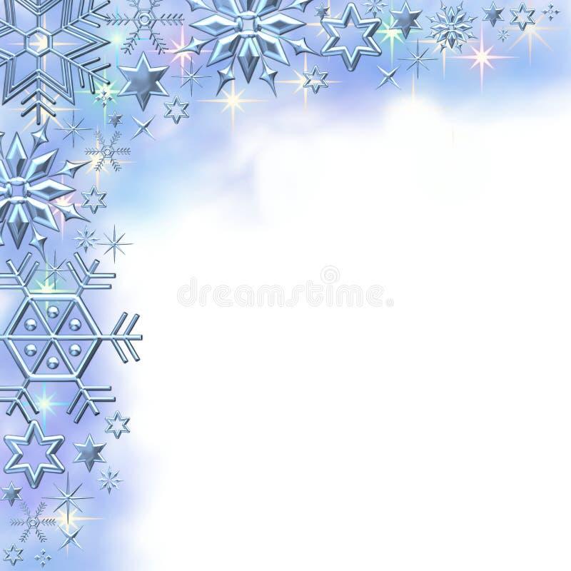 зима снежинки граници иллюстрация штока