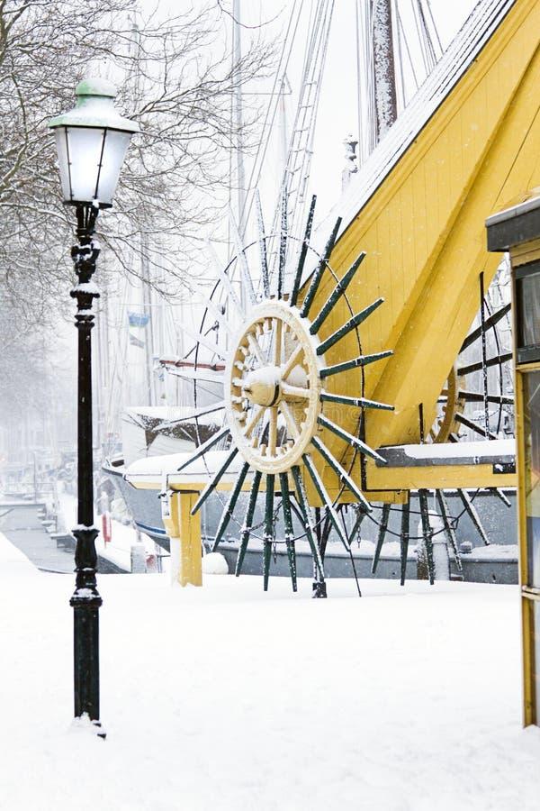 зима снежка гавани стоковое изображение