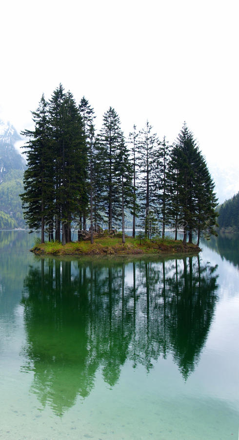 Зима сняла Lago del Predil, Италии стоковое фото
