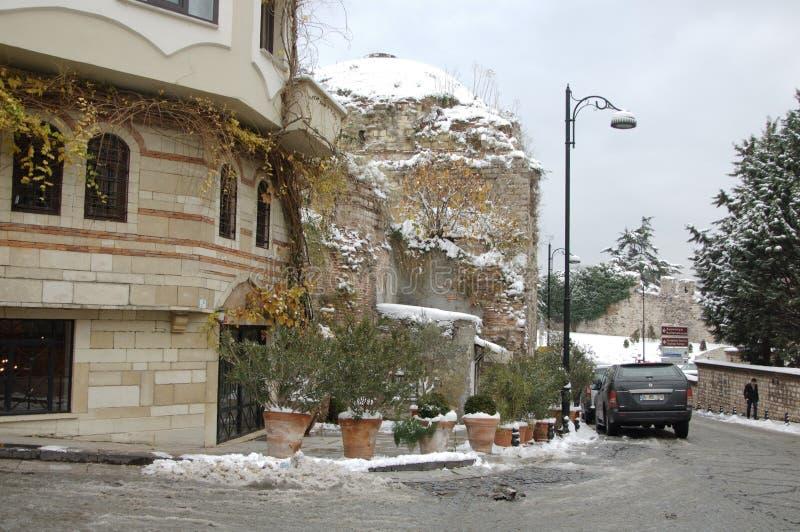 Зима Стамбул, Турция стоковые изображения rf