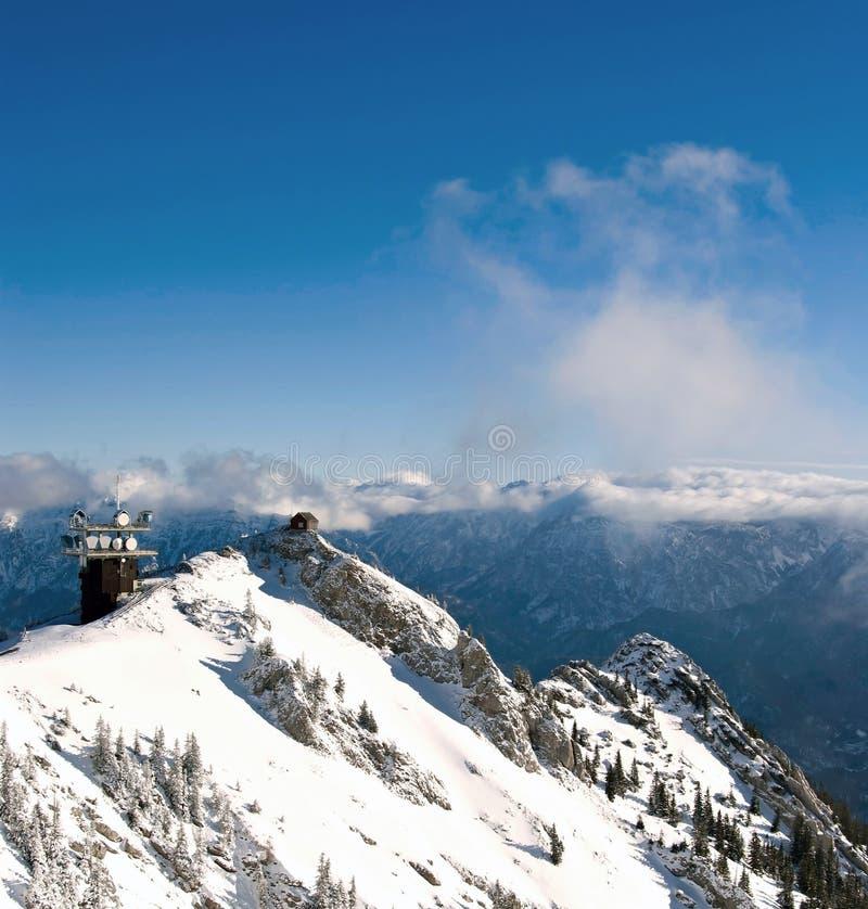 зима станции meteo alps австрийская стоковое изображение
