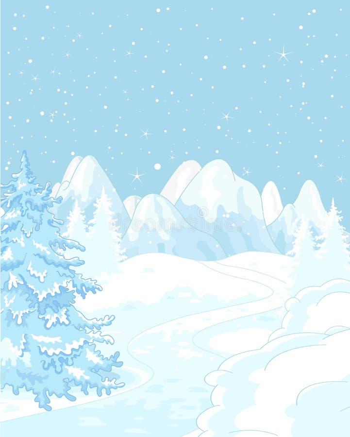 зима температуры России ландшафта 33c января ural иллюстрация вектора
