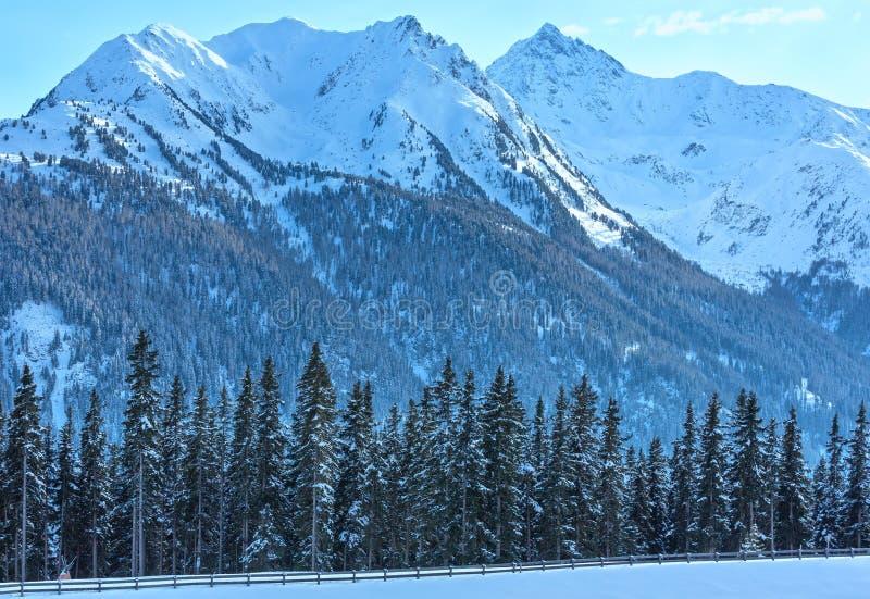 зима Украины горы ландшафта dragobrat Лыжный курорт Kappl, Австрия стоковая фотография rf
