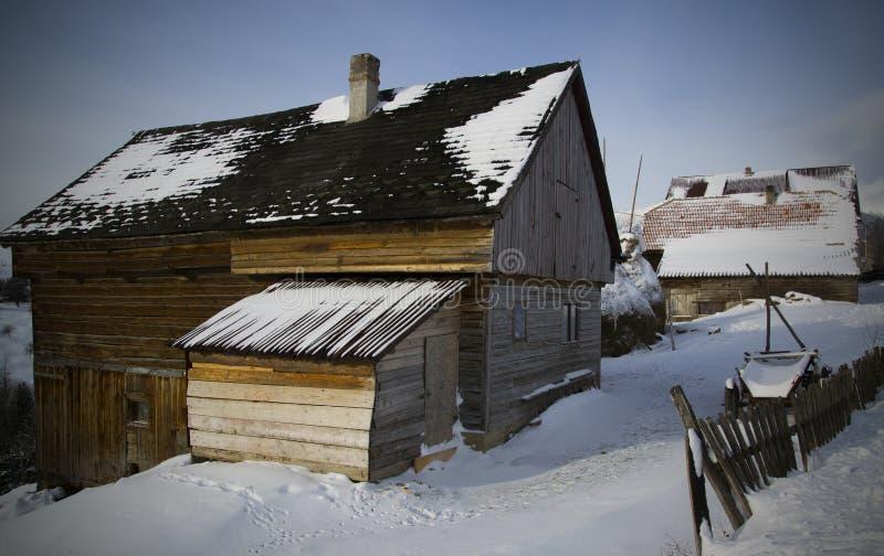 зима Украины горы ландшафта dragobrat стоковые фотографии rf