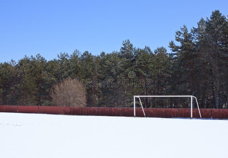 зима футбола снежка стоковое изображение rf