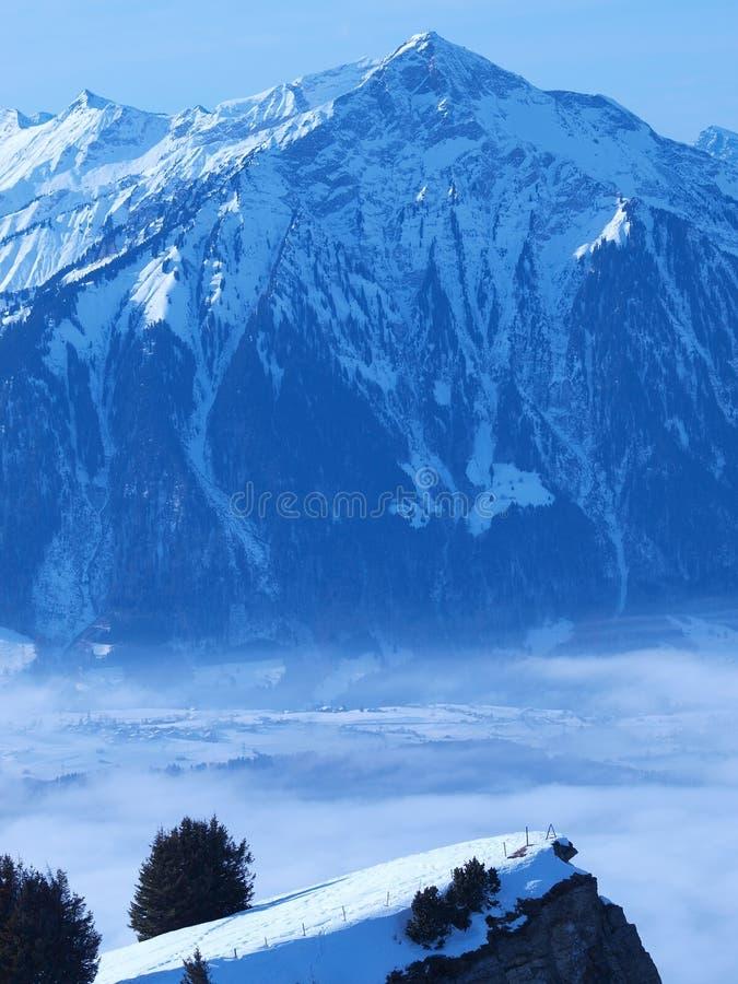 зима Швейцарии ландшафта стоковое фото