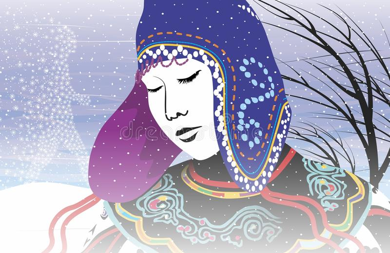 Зима иллюстрация штока