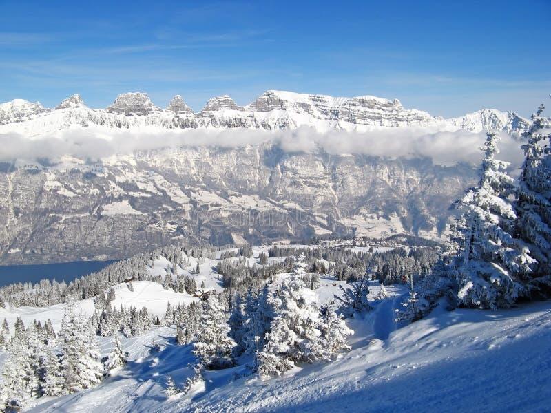 зима alps стоковое фото rf