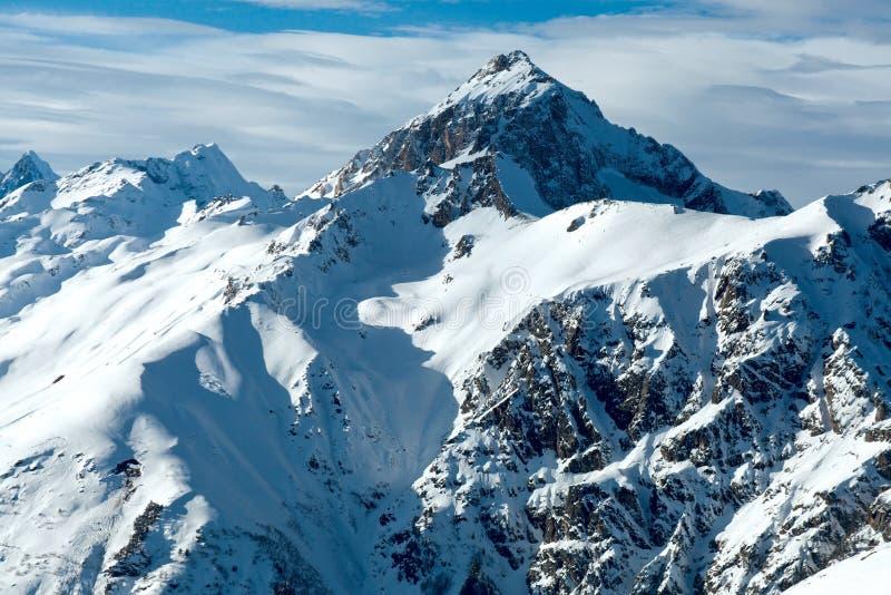 Зима Dombay гор Кавказ стоковое фото