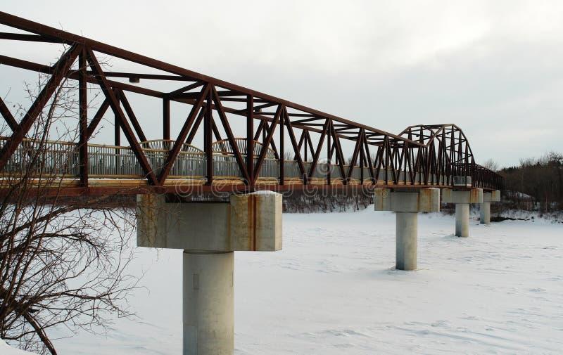зима footbridge стоковое изображение rf