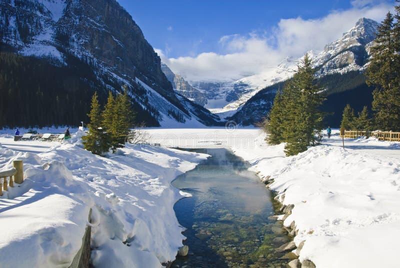 зима louise озера стоковое фото rf