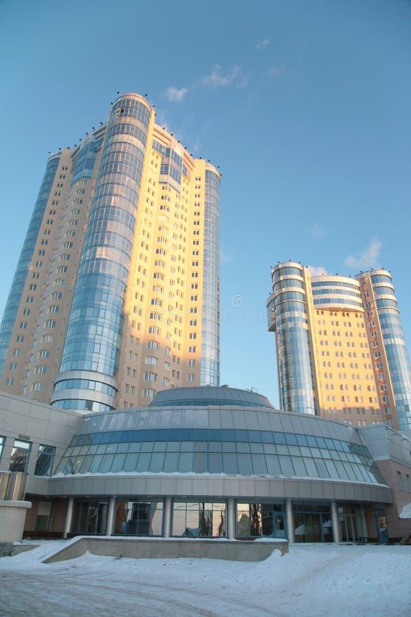зима samara 2 зданий новая стоковое фото