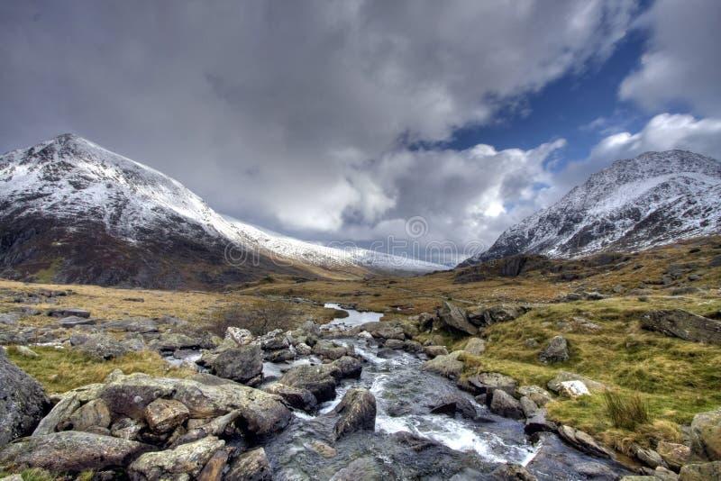 зима snowdonia стоковые изображения rf