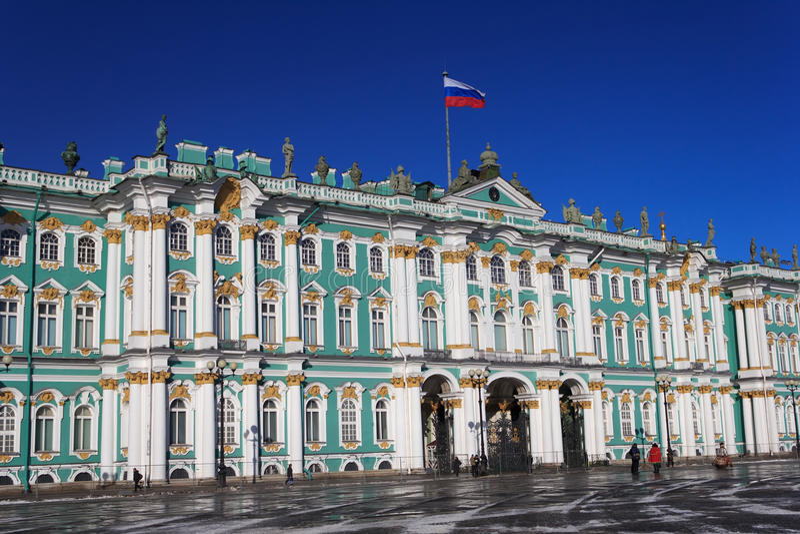 зима st petersburg России дворца стоковое фото