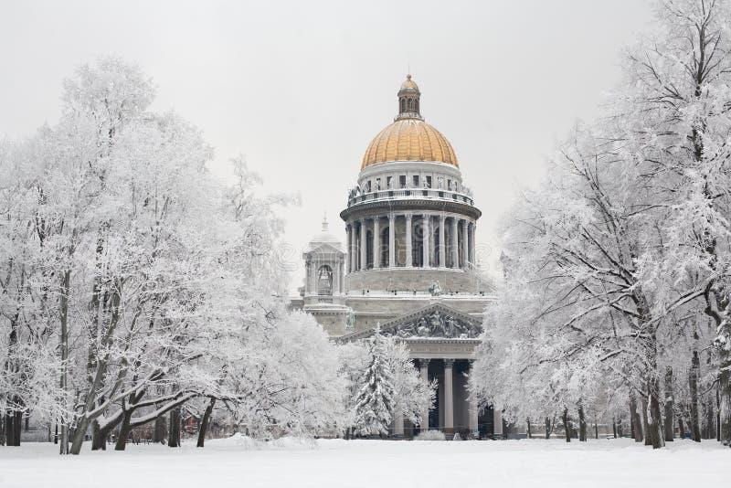 зима st petersburg стоковое фото rf