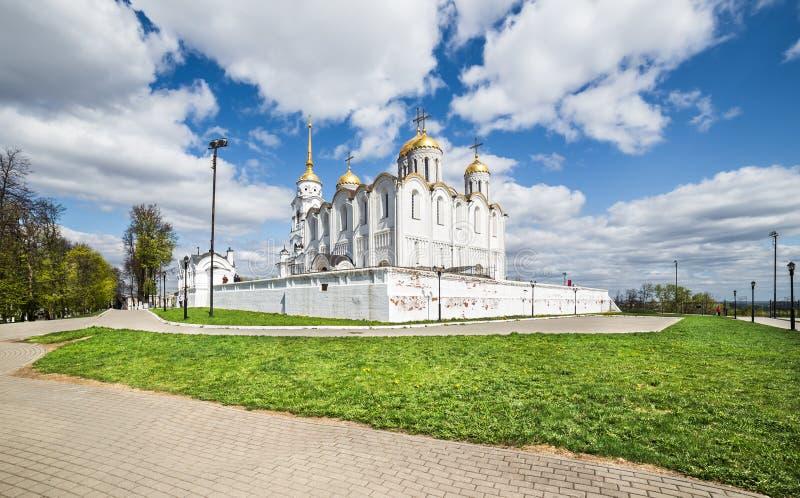 зима vladimir собора предположения Россия стоковые фото