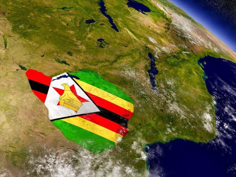 Download Зимбабве с врезанным флагом на земле Иллюстрация штока - иллюстрации насчитывающей символ, землеведение: 81807114