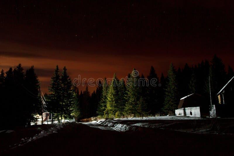 Зимние отдыхи в национальном парке Zyuratkul Область Челябинска Россия стоковое фото