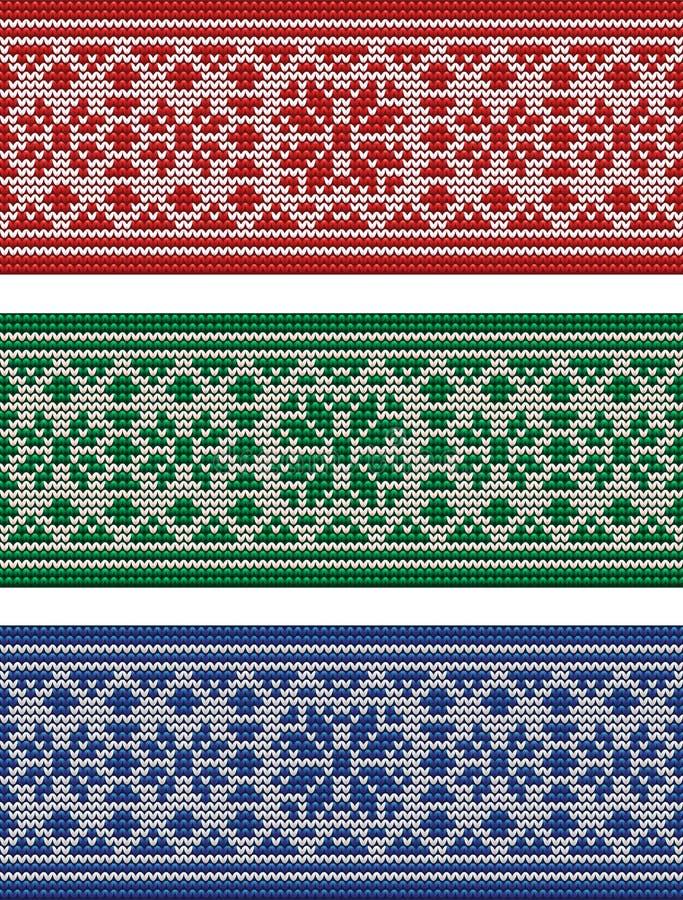 Зимние отдыхи связали знамена, вектор бесплатная иллюстрация