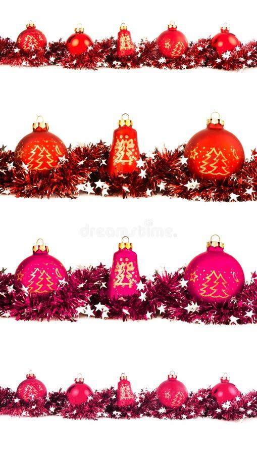 Зимний отдых установил с большим и малым красным цветом, апельсином и magenta b стоковые фотографии rf
