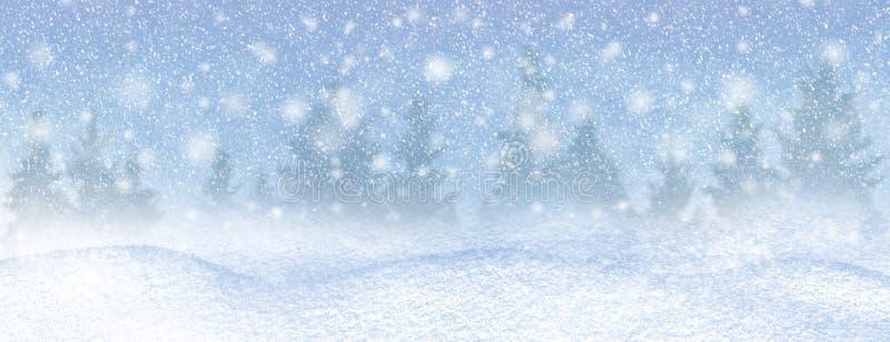 Зимний фон снега и мороза с бесплатным пространством для украшения Рождественский фон стоковое фото