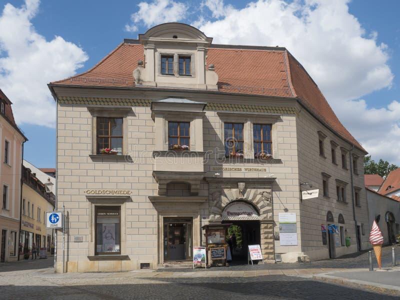 Зиттау, Саксония, Германия, 11 июля 2019 года: Старый дом с магазином морожРстоковые фотографии rf
