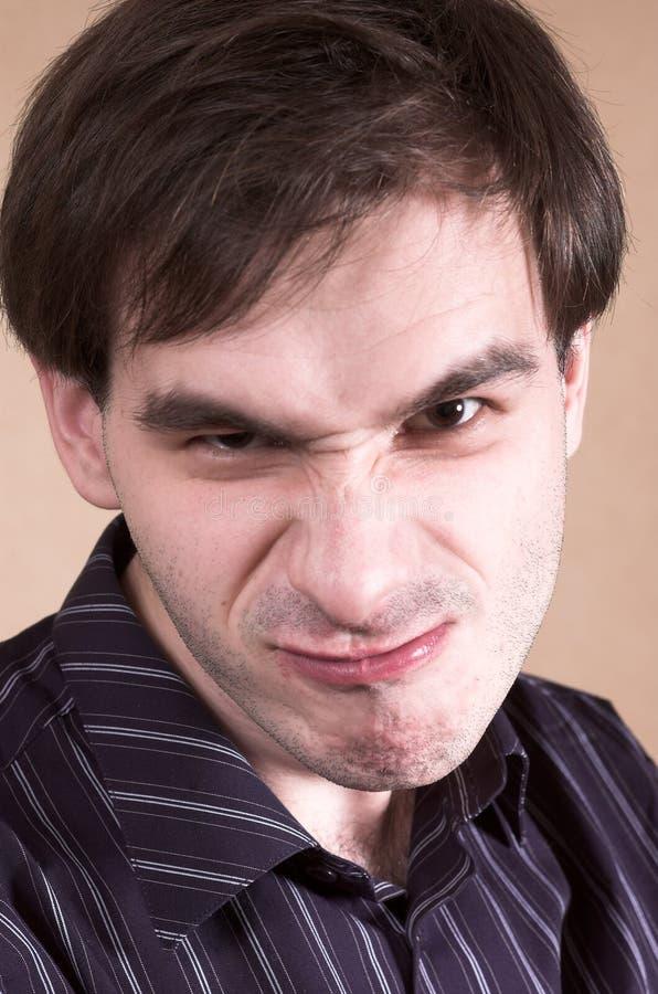 Злейший человек стоковое изображение rf