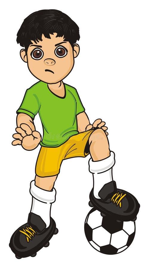 Злий футболист бесплатная иллюстрация