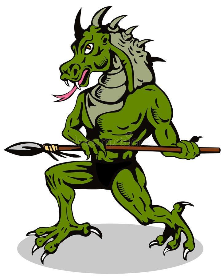 злодейка человека дракона иллюстрация штока