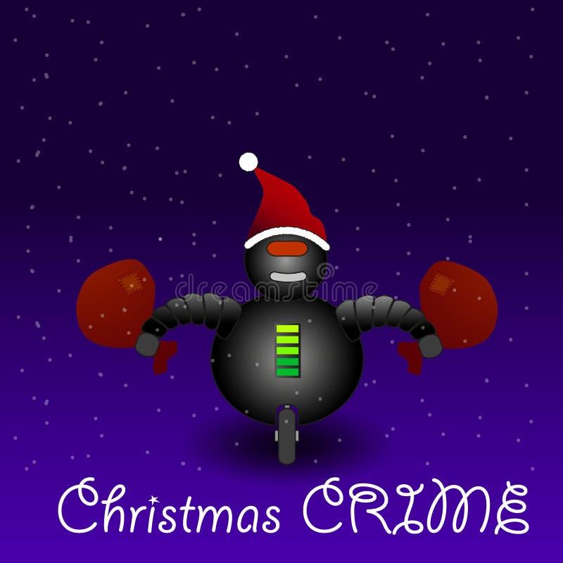 Злодеяние на Рожденственской ночи стоковое фото