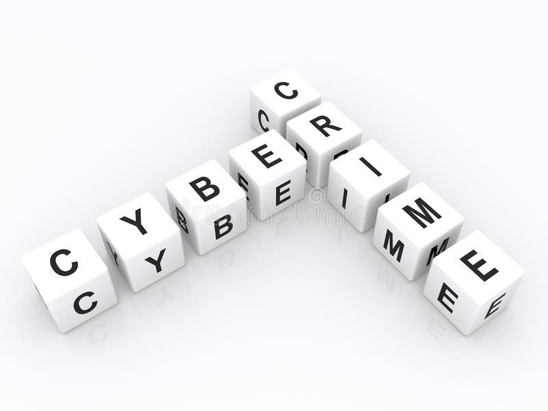 Злодеяние Cyber иллюстрация штока
