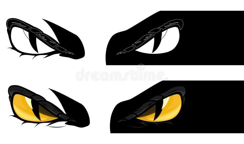 Злой набор дизайна вектора глаз чудовища бесплатная иллюстрация