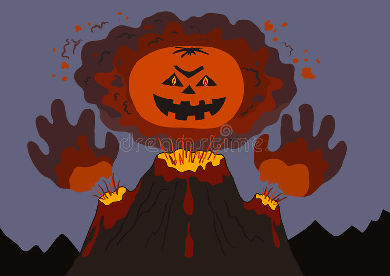 злостый вулкан бесплатная иллюстрация
