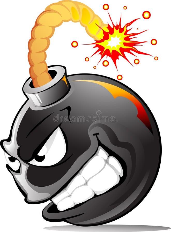 зло шаржа бомбы иллюстрация штока