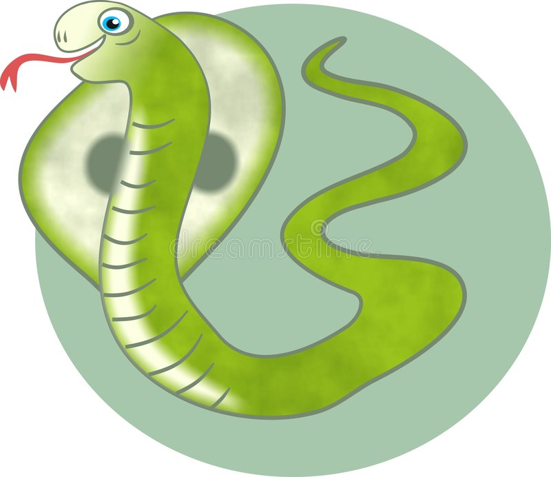 змейка кобры иллюстрация штока