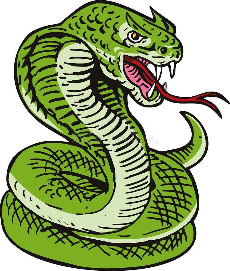 змейка короля кобры иллюстрация вектора