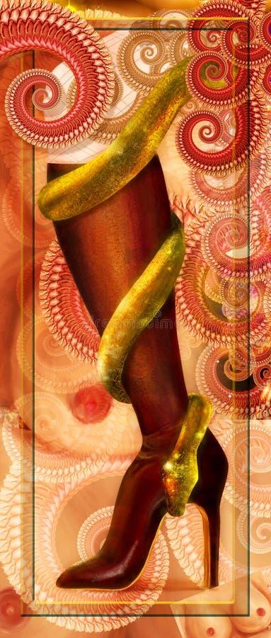 змейка ноги колена ботинка скрутила стоковые изображения rf