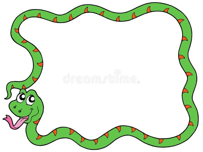 змейка 2 кадров иллюстрация вектора