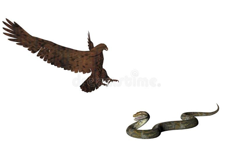 змейка 2 орла иллюстрация штока