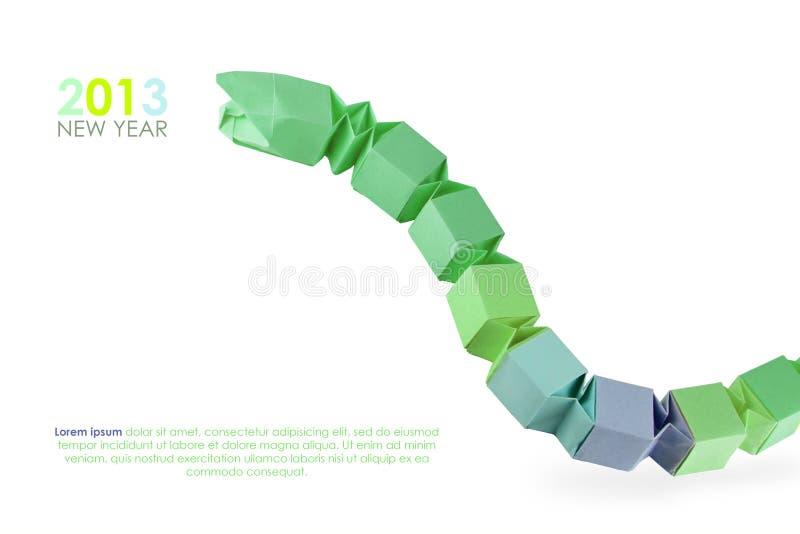 Змейка Origami зеленая стоковая фотография