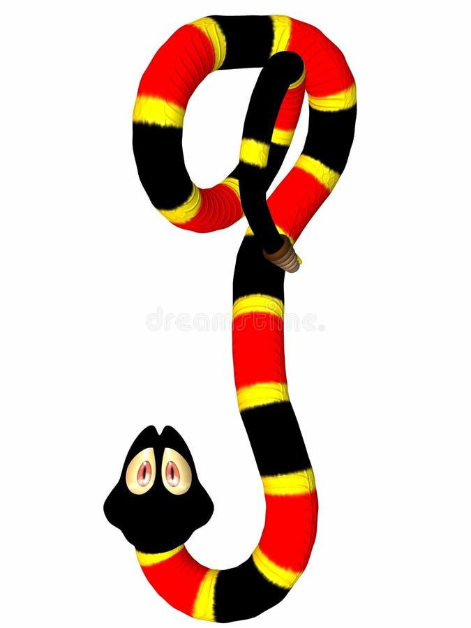 змейка toonimal иллюстрация вектора
