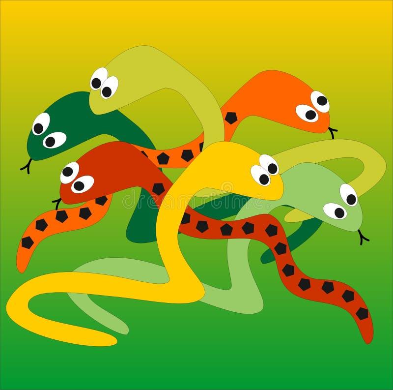 змейки иллюстрация штока