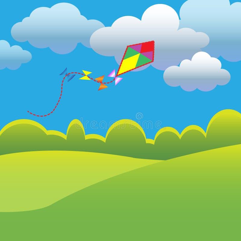 Змей летания иллюстрация штока