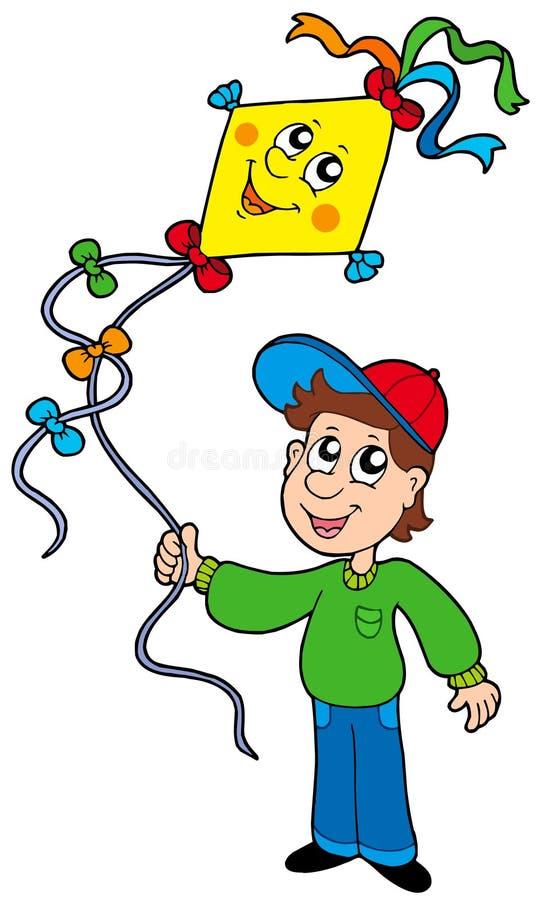 змей мальчика бесплатная иллюстрация