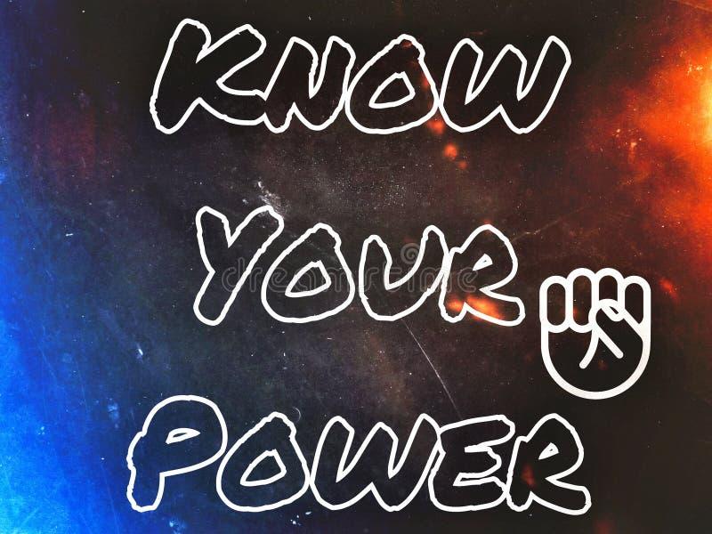 Знайте вашу линию силы английскую в белом тексте цвета бесплатная иллюстрация